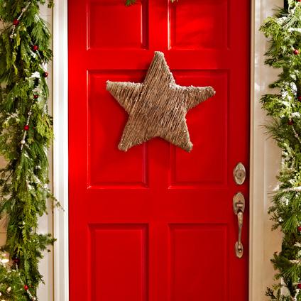 Idee per natale come fare decorazione stella per ingresso tutorial - Addobbi natalizi per la porta ...