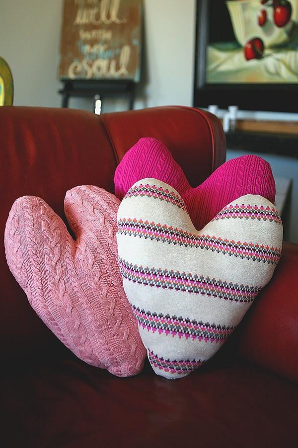 Cuscini Salotto Fai Da Te : Riciclo creativo cuscini a forma di cuore dai vecchi