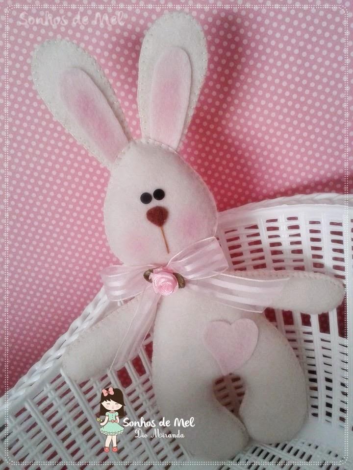 Coniglietto in feltro cartamodello - Modelli di coniglietto pasquale gratis ...