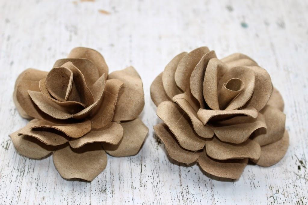 riciclo tubi di cartone come fare rose tutorial