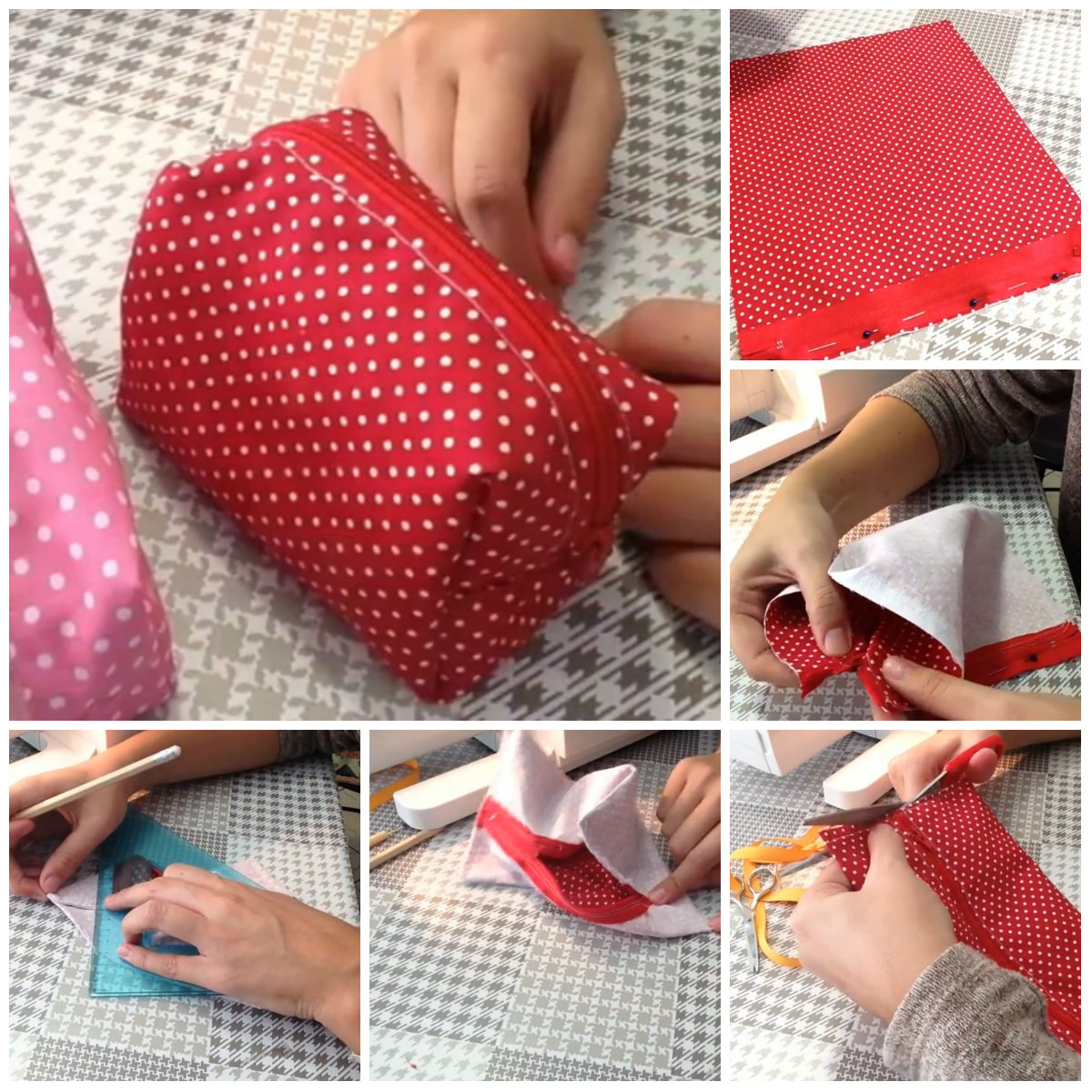 Come cucire una pochette video tutorial in italiano for Porta borse fai da te