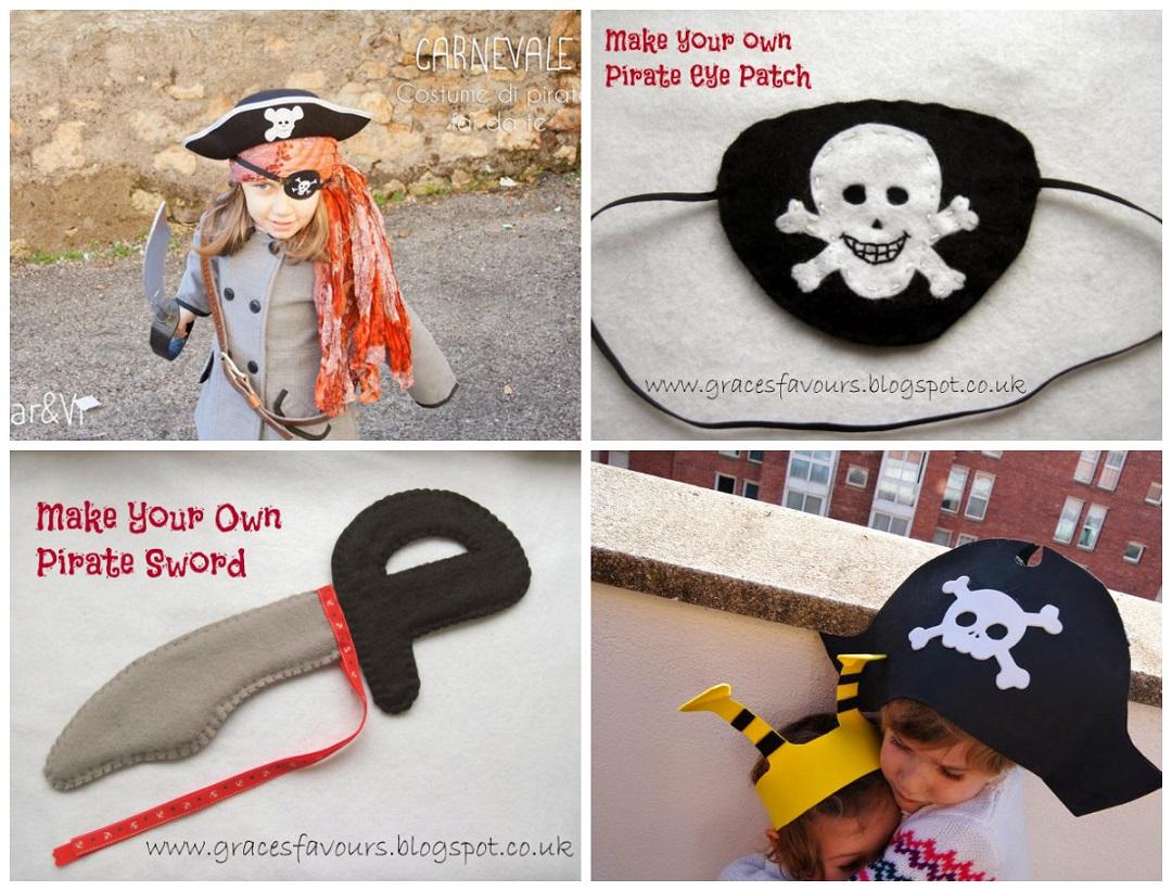 Carnevale  Vestito da Pirata fai da te Tutorial e Cartamodelli. 33c7f250bad9