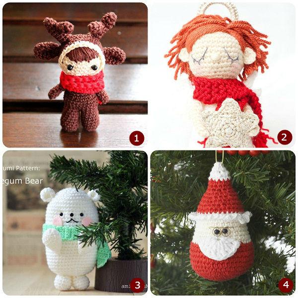 Schemi amigurumi natalizi for Idee creative uncinetto