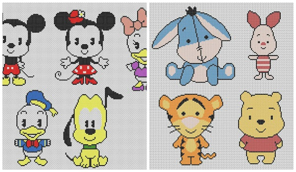 Schemi punto crocee winnie pooh gratis for Punto croce disney winnie the pooh