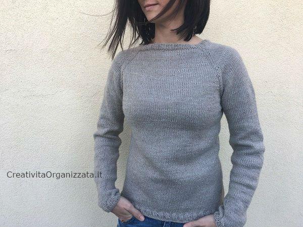 Come fare un maglione top down ai ferri  il mio tutorial per realizzarne uno  facile da9922ed100e