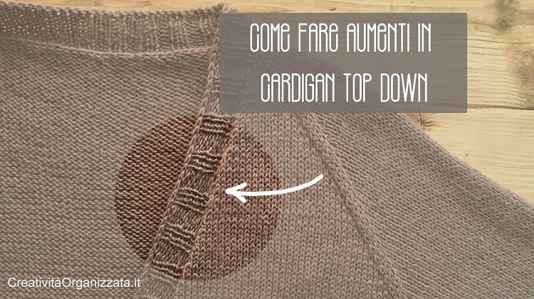 come fare aumenti su bordi a maglia video tutorial