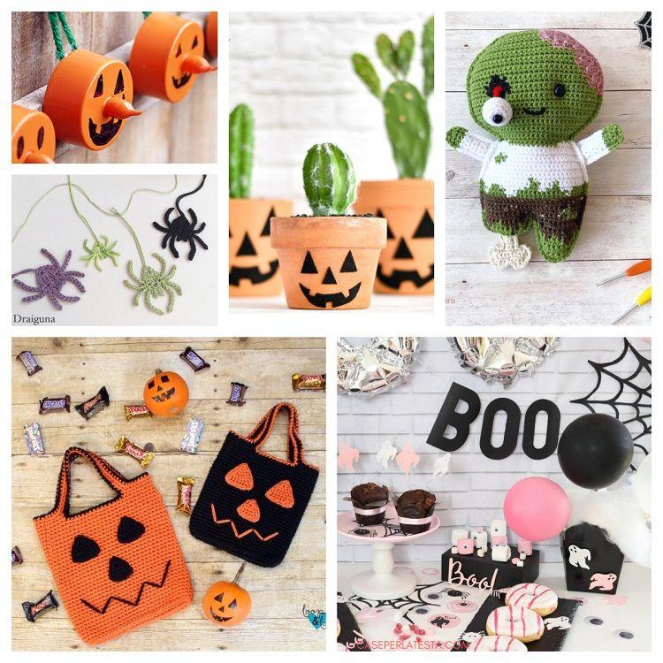 5 Little Monsters: 16 Halloween Crochet Projects: Costumes, Decor ... | 750x750