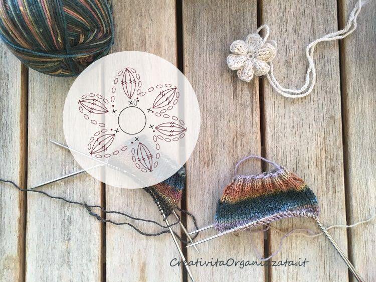 fiore a uncinetto a 6 petali tutorial