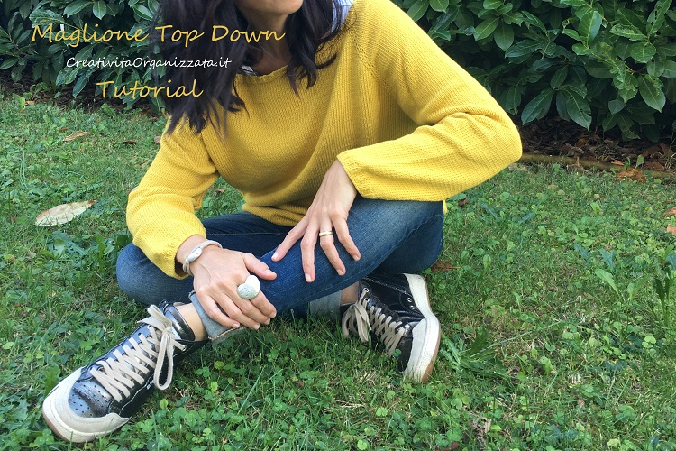 tutorial maglioncino top down cotone